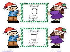 First Grade and Fabulous: Christmas Geometry Teacher Freebies, Classroom Freebies, Math Classroom, Kindergarten Activities, Classroom Ideas, Teaching Shapes, Teaching Math, Teaching Ideas, Christmas Math