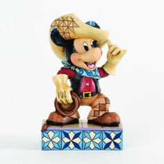 Disney Traditions Cowboy Mickey Mouse Figurine by Jim Shore, 4033286 available at Flossie's Gifts and Collectibles Deco Disney, Disney Mickey, Disney Pixar, Walt Disney, Disney Characters, Mickey Mouse Figurines, Disney Figurines, Jim Shore Disney, Disney Statues