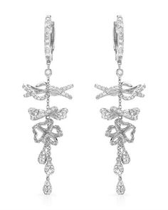 Lovely earrings - diamonds in white gold.
