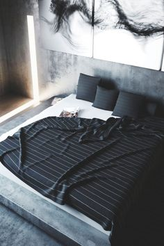 Here we showcase a a collection of perfectly minimal interior design photos for you to use for inspiration.Check out the previous post in the series: Inspiring Examples Of Minimal Interior Design 4 Interior Design Photos, Home Decor Bedroom, Guy Bedroom, Bedroom Ideas, Bedroom Black, Bedroom Wall, Bedroom Interiors, Bedroom Images, Modern Interiors