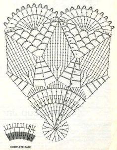 - Her Crochet Crochet Butterfly Pattern, Crochet Square Patterns, Crochet Motifs, Doily Patterns, Crochet Designs, Vase Crochet, Crochet Dollies, Thread Crochet, Crochet Decoration