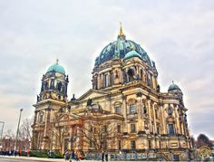 Berlin Cathedral (Protestant) - Berlin, Germany.  Building began on the Cathedral in the 15th century but not completed until 1905.  It was heavily damaged during WWII and remained closed until 1993 when restoration work was completed.