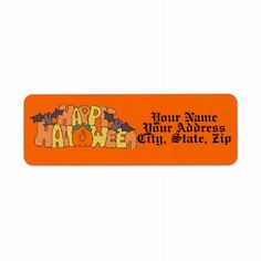 Whether you write them by hand or print them at home, check out our selection of Halloween return address labels. Custom Return Address Labels, Happy Halloween