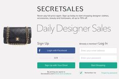 Secretsales.com – Shopping Club http://www.shopping-club.com/uk/shopping-club/secretsales-com-shopping-club . All the products are very carefully selected by the team and then put on to sale. This site has been shown in most of the best magazines named Cosmopolitan magazine, Stylist, Marie Claire and other topmost magazines. You can become their member anytime you want to.
