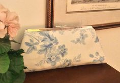 Ralph Lauren Blue and White Floral Fabric by TheGreenEquestrian