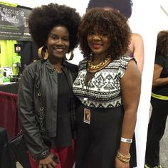 With vlogger @naturallykela at the World Natural Hair Show. #WNHS #teamnatural #naturalista #naturalhair #naturallyglam #flyfro #afrolicious #afro #afrotastic