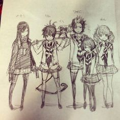 "Crunchyroll - ""Blue Exorcist"" Author Tweets Gender Swapped Cast Sketches"