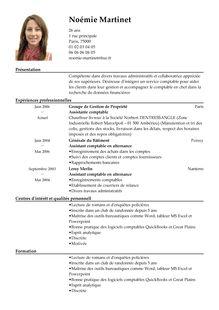 Modèle de CV Assistant Comptable