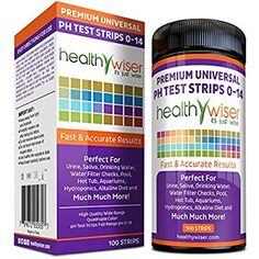 HealthyWiser® pH Test Strips 0-14, Universal Strips To Test, Urine, Saliva, Water, Alkaline Diet, Pool, Hot Tub, Hydroponics, Garden Soil, Aquariums, Kombucha Tea, Results in Seconds, 100-Count: Amazon.ca: Health & Personal Care