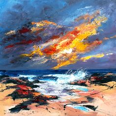 Dronma Wild Skye and Soft Spray 17x17 Signed Limited Edition   Scottish Contemporary Art