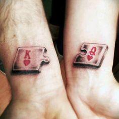 70 Puzzle Piece Tattoo Designs For Men - Inquisitive Mind In.- 70 Puzzle Piece Tattoo Designs For Men – Inquisitive Mind Ink Small King And Queen Puzzle Heart Tattoo For Males On Wrists - Jj Tattoos, Puzzle Tattoos, Trendy Tattoos, Tattoos For Guys, Tattoos For Couples, Romantic Couples Tattoos, King Tattoos, Tattos, King Queen Tattoo