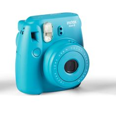 Fujifilm Instax Mini 8 Camera, Tile Blue ❤ I got this today and it is amazing! Polaroid Camera Pictures, Poloroid Camera, Instax Mini 8 Camera, Fujifilm Instax Mini 8, Fujifilm Polaroid, Camara Fujifilm, Fuji Camera, Photography Camera, Digital Camera