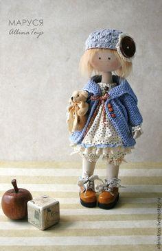 Купить Куклы. Текстильная кукла Маруся. - белый, лето, кукла, текстильная кукла, интерьерная кукла