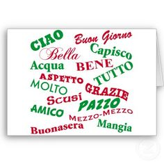 italian sayings. we actually say these : )