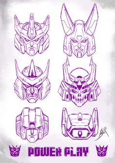 6 DECEPTIHEADS by neurowing.deviantart.com on @deviantART