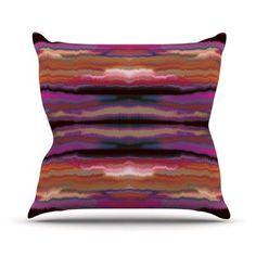 KESS InHouse Sola Color Throw Pillow Size: 26'' H x 26'' W