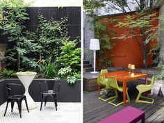 Mur coloré en terrasse