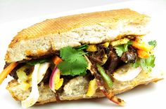 Curried Pork Belly Sandwich with Pickled Veggies on http://blog.sigsiv.com