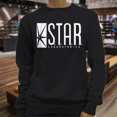 The Flash DC Barry Allen Laboratories Star Labs Womens Black Sweatshirt in Clothing, Shoes & Accessories, Women's Clothing, Sweats & Hoodies | eBay