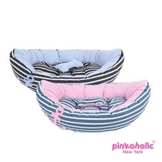 Gondola Snuggle Dog Bed for small dog.  Comes in One Size.  Blue or Navy