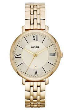 Gave Fossil Dameshorloge & Witte wijzerplaat & 5 ATM Patek Philippe, Fossil Jacqueline, Authentic Watches, Gold Models, Skeleton Watches, Fossil Watches, Women's Watches, Silver Watches, Wrist Watches