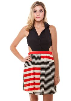 Black Jack Cut-Out Dress [DR91721] - $46.99 : Spotted Moth, Chic and sweet clothing and accessories for women