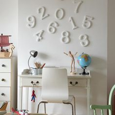 Numbers on the wall :-)