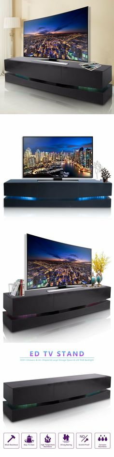 b2d2cc34c33e3e Entertainment Units TV Stands 20488: 70 Inch Tv Stand Led Lights Wall Mount  Entertainment Stand