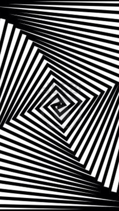I see 4 elements as the 4 groups of lines seem to be moving the same direction and this is an example of Common Fate. Optical Illusion Quilts, Optical Illusions, Op Art, Illusion Photography, Black And White Design, Black White, Concrete Art, Illusion Art, Geometric Art