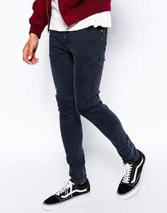 ASOS+Super+Skinny+Jeans+In+Washed+Black