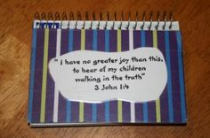 Homemade Bible Verse memory booklet