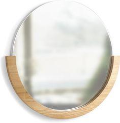 Spiegel Mira - Rond - Naturel - Hout - Umbra