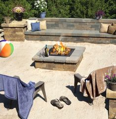Wiggle your toes in the sand in this beach inspired backyard.