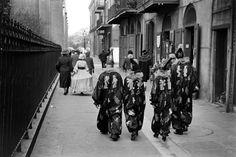 William Vandivert - Mardi Gras revelers in costume, 1938 - New Orleans