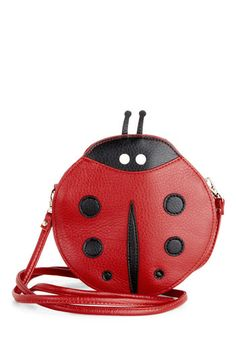 Caught the Love Bug Bag - Red, Black, White, Kawaii, Faux Leather, Print with Animals, Summer, Top Rated