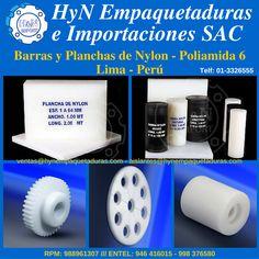 Barras y Planchas de Nylon, Poliamida 6, Ertalon, Grilon, Sneamid. Para más información:  HyN Empaquetaduras e Importaciones SAC  Av. Ramón Cárcamo 547, Cercado de Lima  RPM 988961307 – *370414 (whatsapp)  Entel 946416015 – 998376580 (whatsapp)  Fijo: 3326555  ventas@hynempaquetaduras.com  aislantes@hynempaquetaduras.com