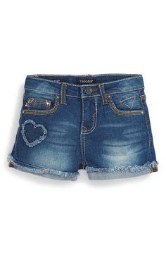 Vigoss 'Hearts' Denim Shorts (Little Girls)