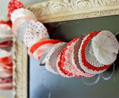 Cupcake Wrapper Garland | Pottery Barn Kids--Cookie exchange party