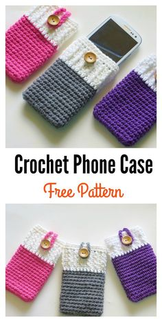 Mobile Phone Cozy or Case Free Crochet Pattern
