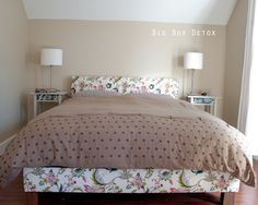 another great bed frame/headboard idea. But since I am in an apartment - how does one make this and then deconstruct it to move?