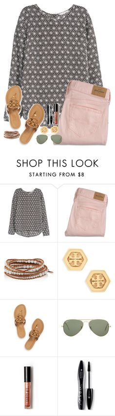 """""""Thanks for 600 followers"""" by hgw8503 ❤ liked on Polyvore featuring H&M, Chan Luu, Tory Burch, Ray-Ban, Forever 21, Lancôme, women's clothing, women's fashion, women and female"""
