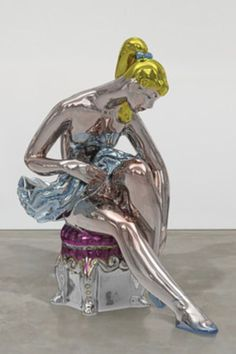 """""""Ballerina"""" is a larger-than-life sculpture by celebrated American artist Jeff Koons. A fan of working with readymade objects, Koons reimagined the piece from a porcelain of a ballerina found in a Russian factory at the turn of the century. Jeff Koons Art, Modern Art, Contemporary Art, Modern Sculpture, Sculpture Art, Art Icon, High Art, Conceptual Art, Surreal Art"""