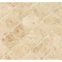 Shop for Cappuccino Polished Stone Arabesque Mosaic Tile (Pack Of 10 Sheets). Get free delivery at Overstock - Your Online Home Improvement Shop! Get in rewards with Club O! Ceramic Mosaic Tile, Stone Mosaic Tile, Marble Mosaic, Country Kitchen Designs, French Country Kitchens, Country Bathrooms, Tuscan Kitchens, Cottage Bathrooms, Elegant Kitchens