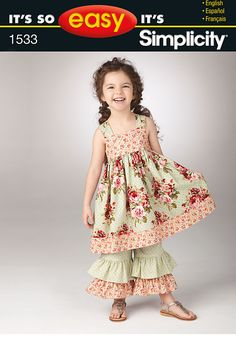 Simplicity It's So Easy Child's Dress and Pants 1533