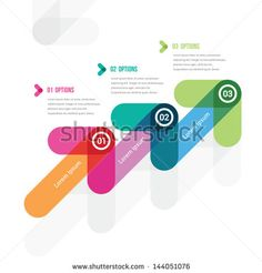the step-by-step instruction in the form of a ladder from three - stock vector