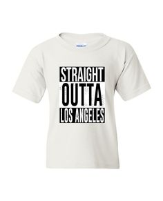 Straight Outta Los Angeles T-shirt white