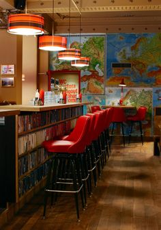 The Laundromat Cafe - Reykjavík, Iceland  Books and Maps together--I could have found heaven!