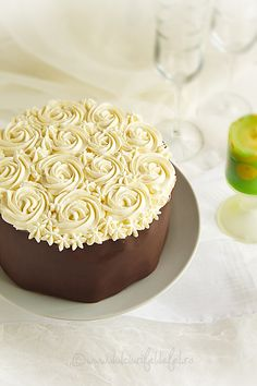 Chocolate Caramel Rose Cake | Dulciuri Fel de Fel