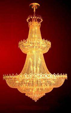 iron golden finish large crystal chandelier 59 lights ESLC0011 - Large Chandelier - Chandeliers - Eshine Large Chandeliers, Crystal Chandeliers, Large Crystals, Swarovski, Ceiling Lights, Lighting, Home Decor, Interiors, Decoration Home