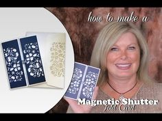 How to make a Magnetic Enclosure Shutter Fold Card featuring Stampin Up